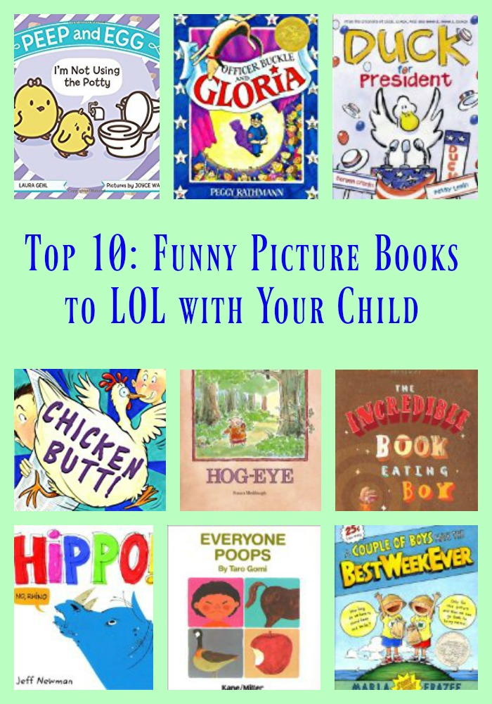 Top 10: Funny Picture Books to LOL with Your Child