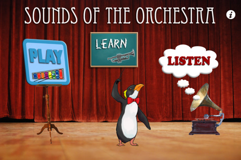 March of the Penguins, Sounds of the Orchestra iPad app, http://PragmaticMom.com, pragmatic mom
