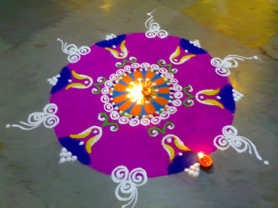 Rangoli, Diwali, home decorations in India Bangladesh, http://PragmaticMom.com, Pragmatic Mom