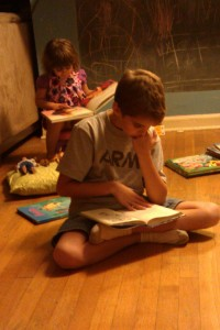 caught in the act of reading, http://PragmaticMom.com, pragmatic mom