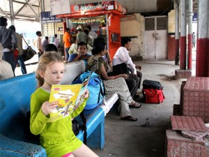caught in the act of reading, http://PragmaticMom.com, issie kapner