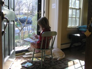 sam and max reading, melissa boucher, caught in the act of reading, http://pragmaticmom.com, Pragmatic Mom