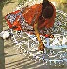 alpana white, diwali, rickshaw girl activity for book club, http://PragmaticMom.com, Pragmatic Mom, PragmaticMom
