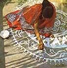 alpana white, diwali, rickshaw girl activity for book club, http://PragmaticMom.com, Pragmatic Mom, PragmaticMom
