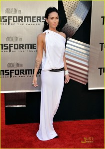 Megan Fox 2010 Red Dress Celebrities in Togas, ...