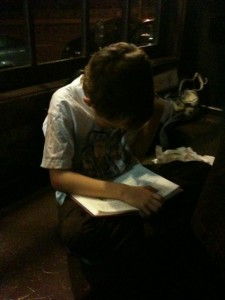 caught in the act of reading, http://PragmaticMOm.com, max melville