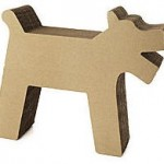 cardboard cat scratching post shaped like dog, 12 days of shopping cats pragmaticmom.com