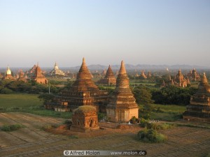Evening view over Bagan plain Burma Teach Me Tuesday pragmatic Mom
