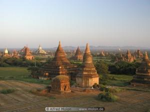 Evening view over Bagan plain Burma Teach Me Tuesday pragmatic Mom