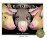 The Three Pigs , caldecott, weisner, pragmatic mom