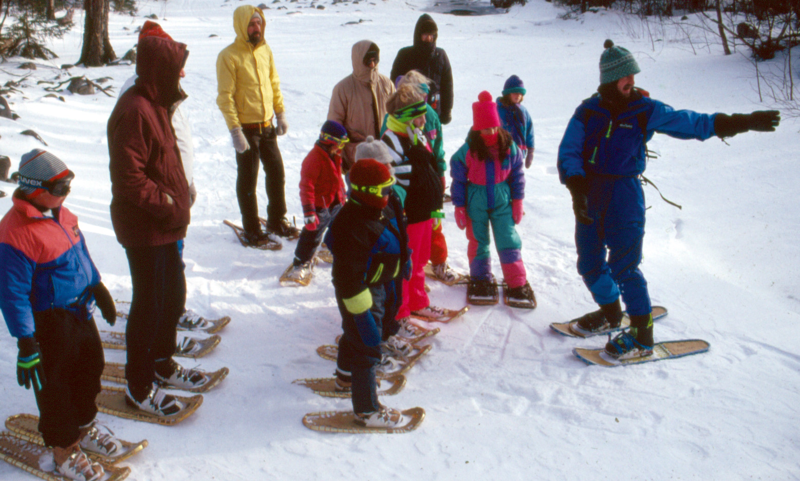 Jerry Shereda keeping kids active in winter snowshoeing pragmatic mom