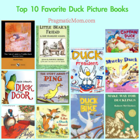 ducks in picture books, picture books with ducks, duck picture books,