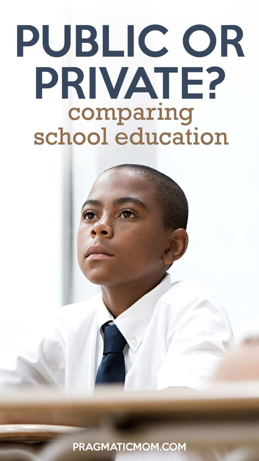 Comparing Private School with Public School Education