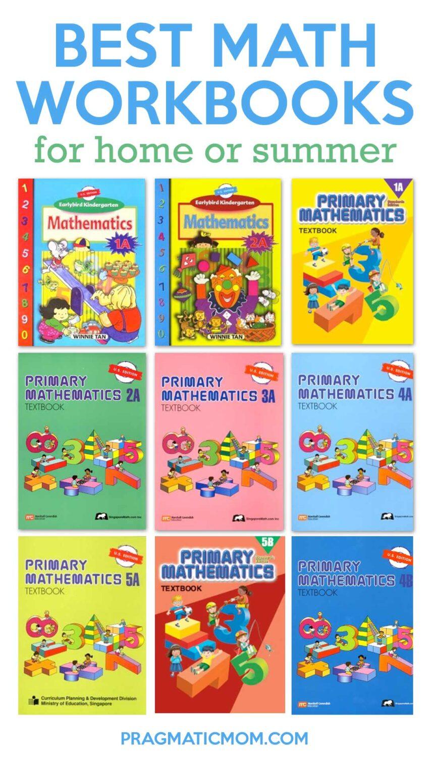 Best Math Workbooks for Home or Summer Supplementation