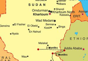 Lost Boys of Sudan map