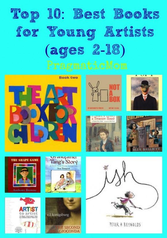 books for arty kids, books for artistic children,