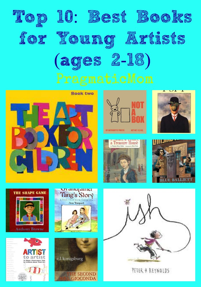 books for arty kids, books for artistic children,