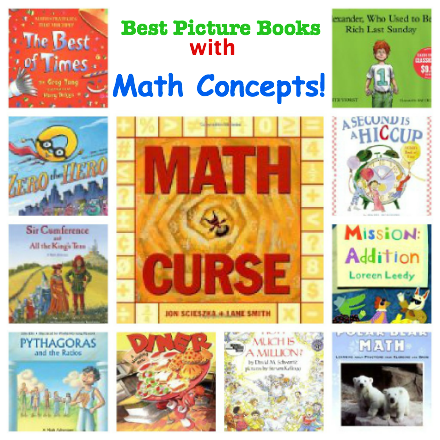 best picture books with math concepts, best books for kids with math concepts, math and picture books