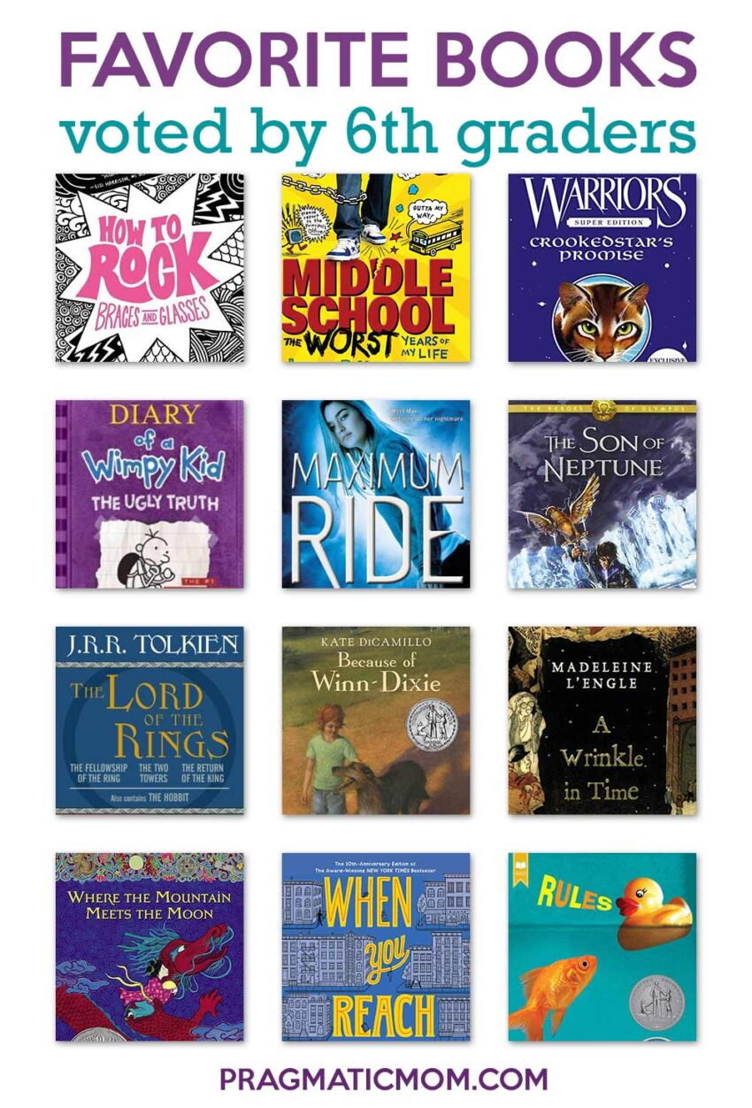 Favorite Books for 6th Grade from 6th Graders