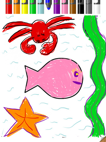 Scribble Kid iPad app drawing app for kids PragmaticMom pragmatic mom screen shot
