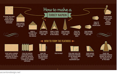 how to fold a turkey napkin