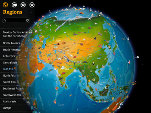Barefoot World Atlas App, iPad app, geography for kids, Barefoot Books