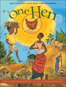 One Hen, advanced picture book, micro loans, book club for boys, boys book club