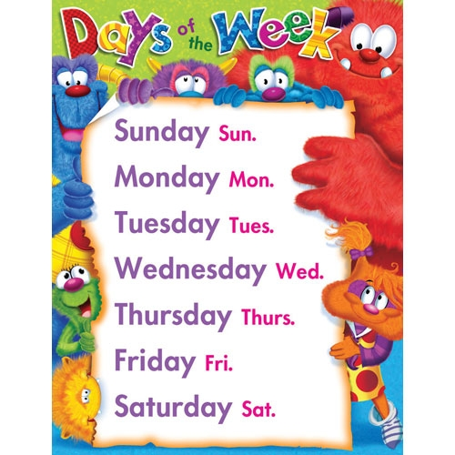 Days of the Week, PragmaticMom, books for kids,