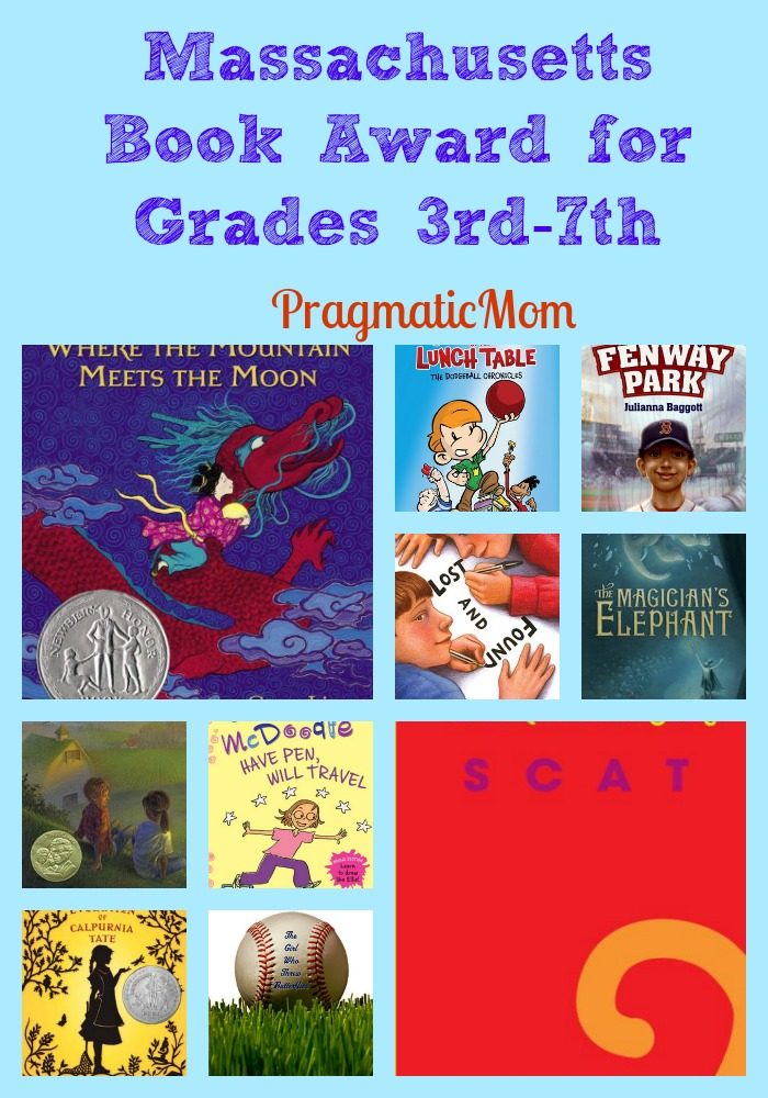 Massachusetts Book Award for kids books