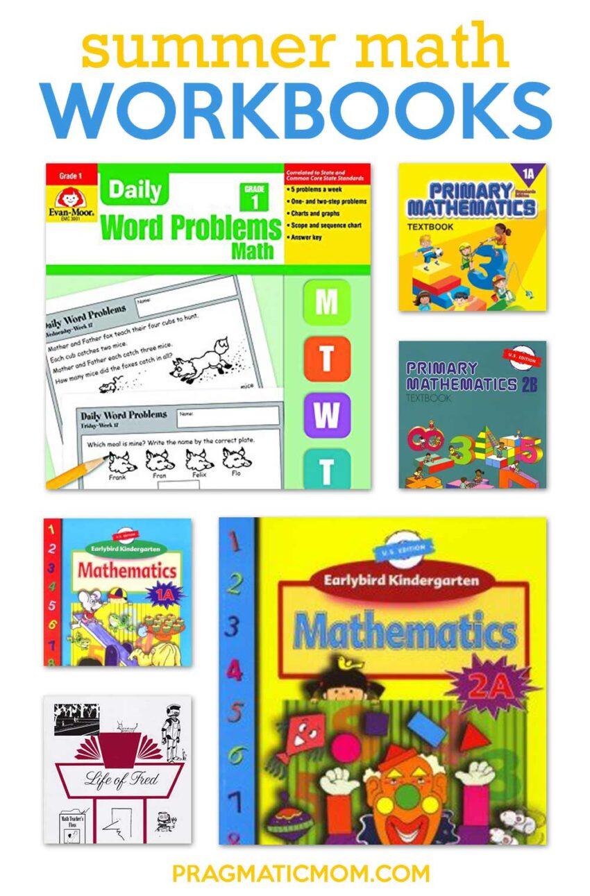 Best Summer Math Supplementation Work Books and More