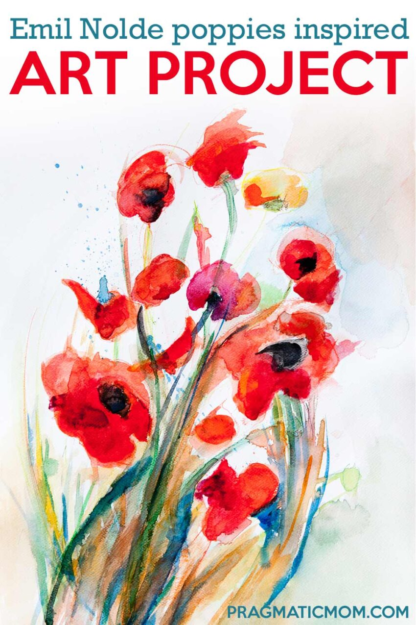 Emil Nolde Poppies Inspired Art Lesson for Kids