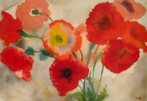 Emil Nolde poppies, poppy, Emil Nolde