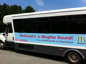 BlogHer bus