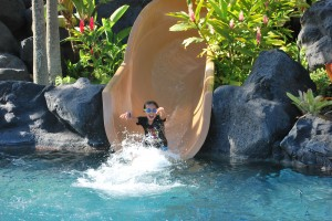 best resort for kids, Grand Hyatt Hawaii, water slide