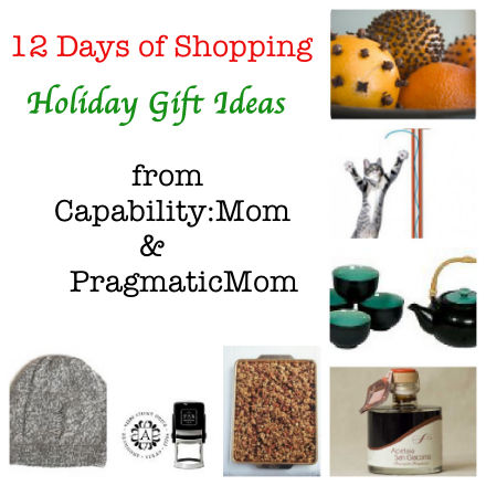 12 days of shopping, holiday gift guide, capabilitymom and pragmaticmom