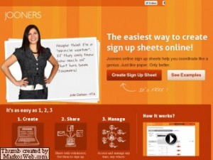 jooners, sign up sheets, online organization, car pool organization for moms