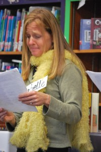 Suzy Kline author visit, yellow scarf Horrible Harry, seeds of story idea