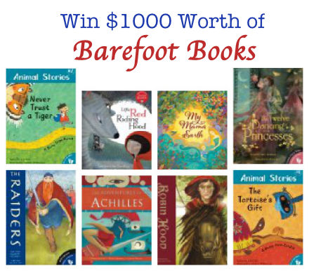 Barefoot Book giveaway, win Barefoot Books
