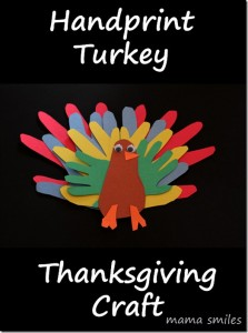 thanksgiving craft, handprint turkey craft