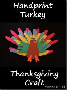 thanksgiving craft, handprint turkey craft