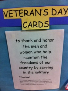 Veteran's Day card project for kids