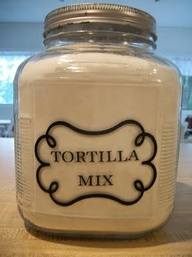 homemade tortilla mix