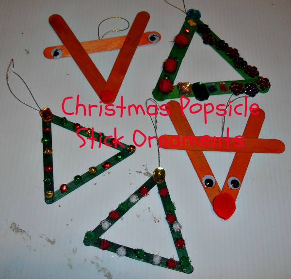 Homemade ornaments to make and give day 12 12 days of for Popsicle stick picture frame christmas