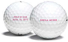 Titliest customized golf balls,