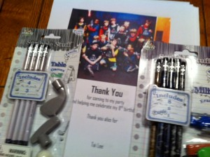 birthday thank you notes, kids and thank you notes, Mega Brands, Rose Art