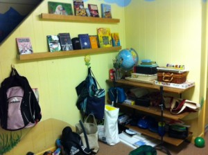 art studio before