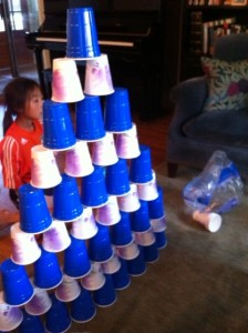 mad cup stacking skills, cup stacking as indoor kid activity, keeping kids active inside,  indoor fun for kids