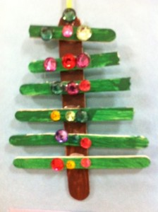 craft stick christmas tree homemade ornament