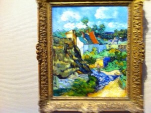 Houses at Auvers, 1890, Vincent Van Gough, French impressionist at Museum of Fine Arts Boston