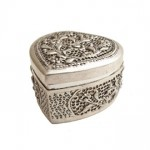 heart shaped silver jewelry box from Thailand,